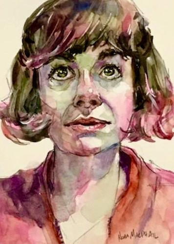"""upward"" original fine art by Nora MacPhail"