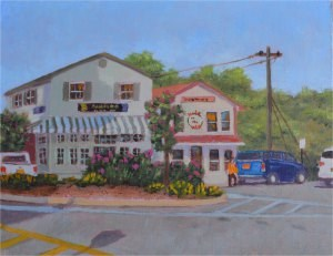 """""""The Hole in the Wall Cafe"""" original fine art by Robert Frankis"""
