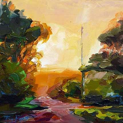 """""""Waldweg"""" original fine art by Jurij Frey"""