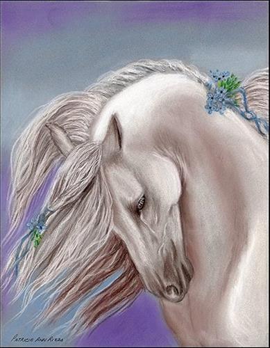 """""""The Andalusian"""" original fine art by Patricia Ann Rizzo"""