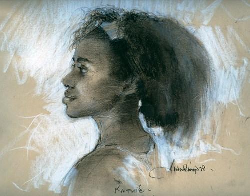 """AFRO SERIES 7"" original fine art by Adebanji Alade"