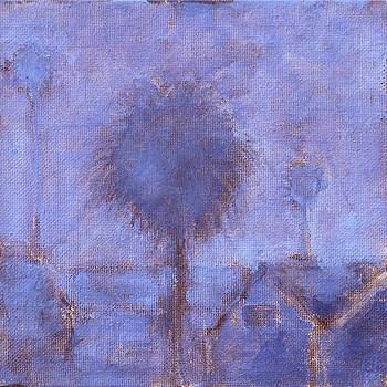 """Fog Palms"" original fine art by Kevin Inman"