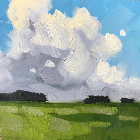 """Summer Clouds"" original fine art by Sharon Schock"