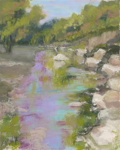 """Kansas Creek"" original fine art by Mary Weil"