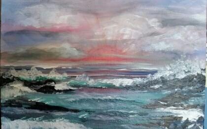 """Cherished Moments"" original fine art by Susan Belisle"