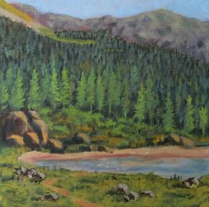 """""""The Trail to Williams Lake"""" original fine art by Robert Frankis"""