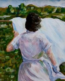 """1955"" original fine art by Maggie Flatley"