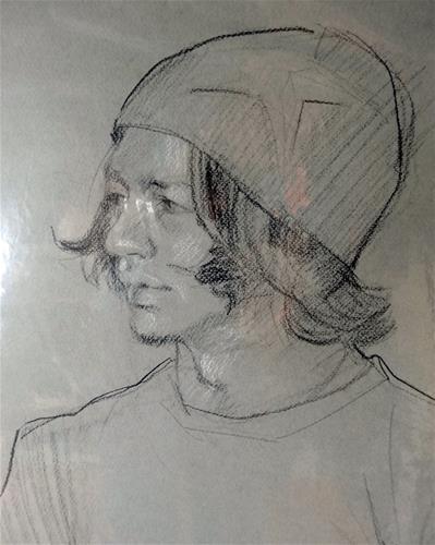 """""""The Hat"""" original fine art by Jini James"""