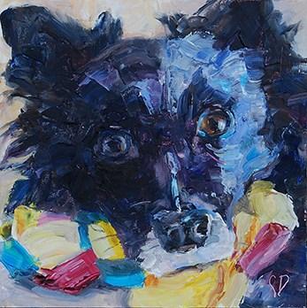 """Wanna Play?"" original fine art by Carol DeMumbrum"
