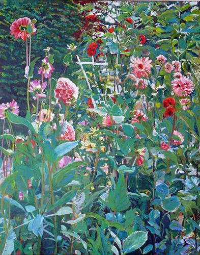 """Garden Party"" original fine art by Darlene Young"