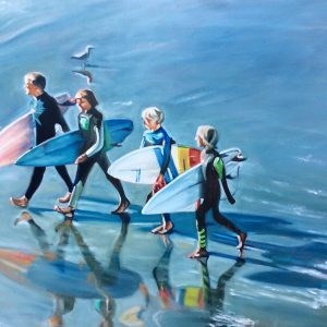 """Surfer Boys"" original fine art by Sonja Neumann"
