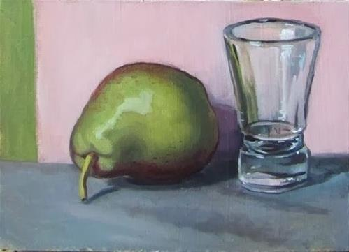 """4- Pear and Shot Glass"" original fine art by Edward Watson"