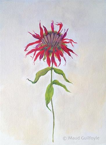 """Bee Balm, Bergamot from my friend's garden"" original fine art by Maud Guilfoyle"