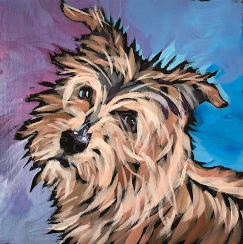 """July 27, Baxter!"" original fine art by Kat Corrigan"