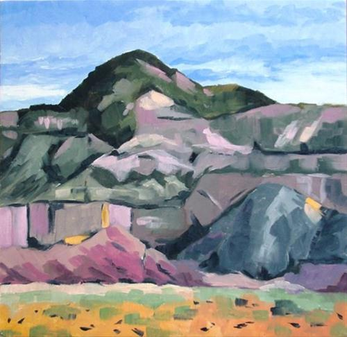"""Ghost Ranch oil painting"" original fine art by Ria Hills"