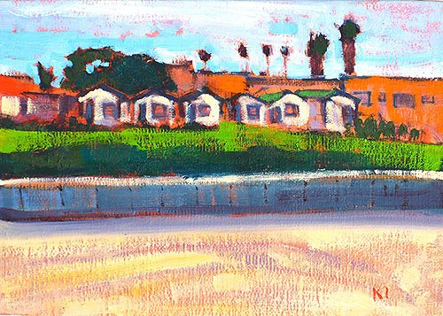 """""""Beach Cottages, OB"""" original fine art by Kevin Inman"""