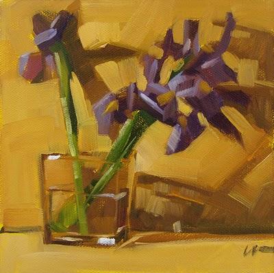"""""""Iris Shadows --- n/a"""" original fine art by Carol Marine"""