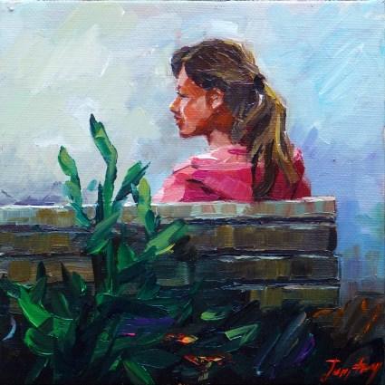 """""""in the park"""" original fine art by Jurij Frey"""