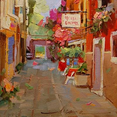 """""""Hotel Italiano"""" original fine art by Dreama Tolle Perry"""