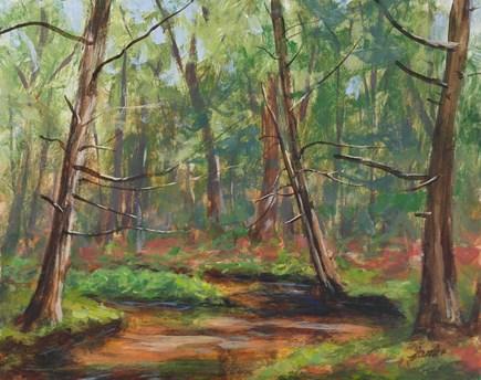 """Bend in the Creek"" original fine art by Jamie Williams Grossman"
