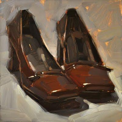 """Fancy Shoes"" original fine art by Carol Marine"