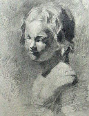 """Cast Drawing"" original fine art by Qiang Huang"