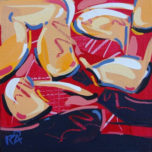"""""""Shapes & Movement 46"""" original fine art by Roger Akesson"""