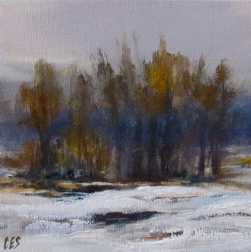 """""""Winter Trees"""" original fine art by ~ces~ Christine E. S. Code"""