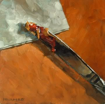 """PB & J Knife"" original fine art by Michael Naples"