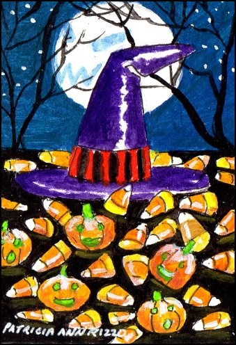 """Witch Candy"" original fine art by Patricia Ann Rizzo"