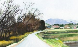 """Spring Stroll"" original fine art by Mariko Irie"