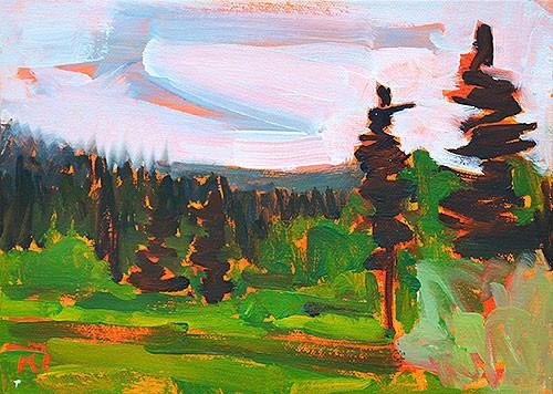 """McCall, Idaho"" original fine art by Kevin Inman"