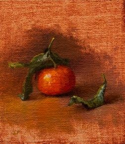 """""""Clementine from a Bologna Market (Italy painting #3)"""" original fine art by Abbey Ryan"""