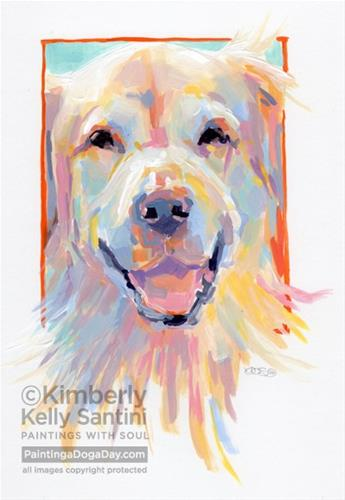"""""""Parson, A Painted Sketch"""" original fine art by Kimberly Santini"""