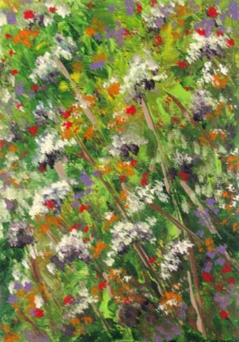"""Wildflowers3"" original fine art by Nan Johnson"