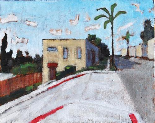 """""""No Parking On The Hill"""" original fine art by Kevin Inman"""