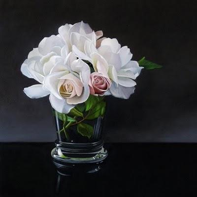 """Rose 12x12"" original fine art by M Collier"