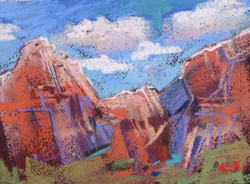 """Discovering a Desert Oasis...Zion National Park"" original fine art by Karen Margulis"
