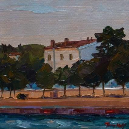 """Sunset in the south"" original fine art by Jurij Frey"