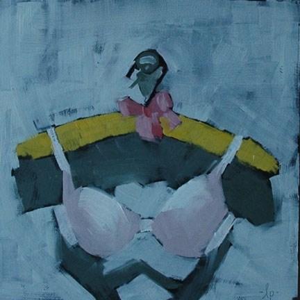 """BRA 5"" original fine art by Linda Popple"
