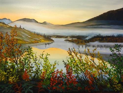 """South Canol, Morning Mist"" original fine art by Jackie Irvine"