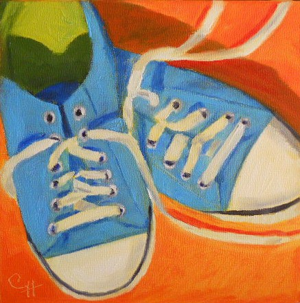 """Anna's Shoes"" original fine art by Claire Henning"