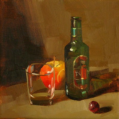 """Happy Hour --- Sold"" original fine art by Qiang Huang"