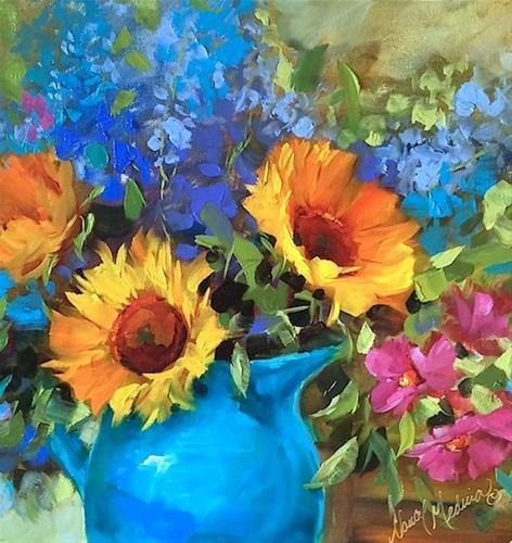 """Live Videos and Countdown to Brilliant Color"" original fine art by Nancy Medina"