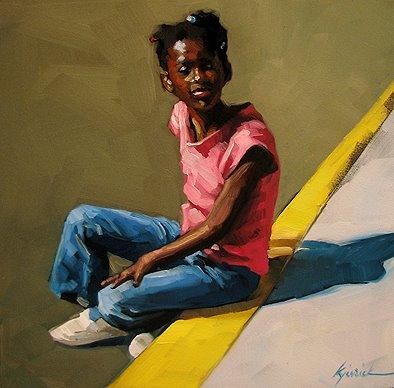 """""""Georgia Girl"""" original fine art by Karin Jurick"""