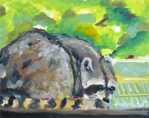 """Tennessee Raccoon"" original fine art by Susan Elizabeth Jones"