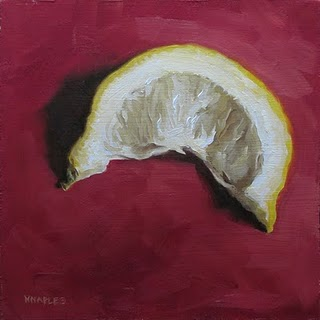 """""""Squeezed Lemon No.2"""" original fine art by Michael Naples"""