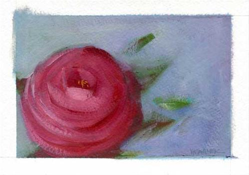 """Folk Rose"" original fine art by Heather Bennett"