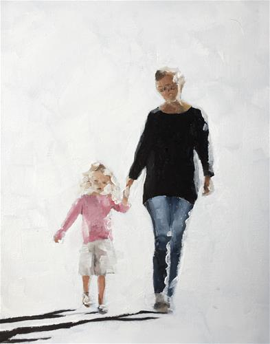 """Mum and Daughter"" original fine art by James Coates"