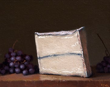 """""""Champagne Grapes and Humboldt Fog (the light, the shade)"""" original fine art by Abbey Ryan"""